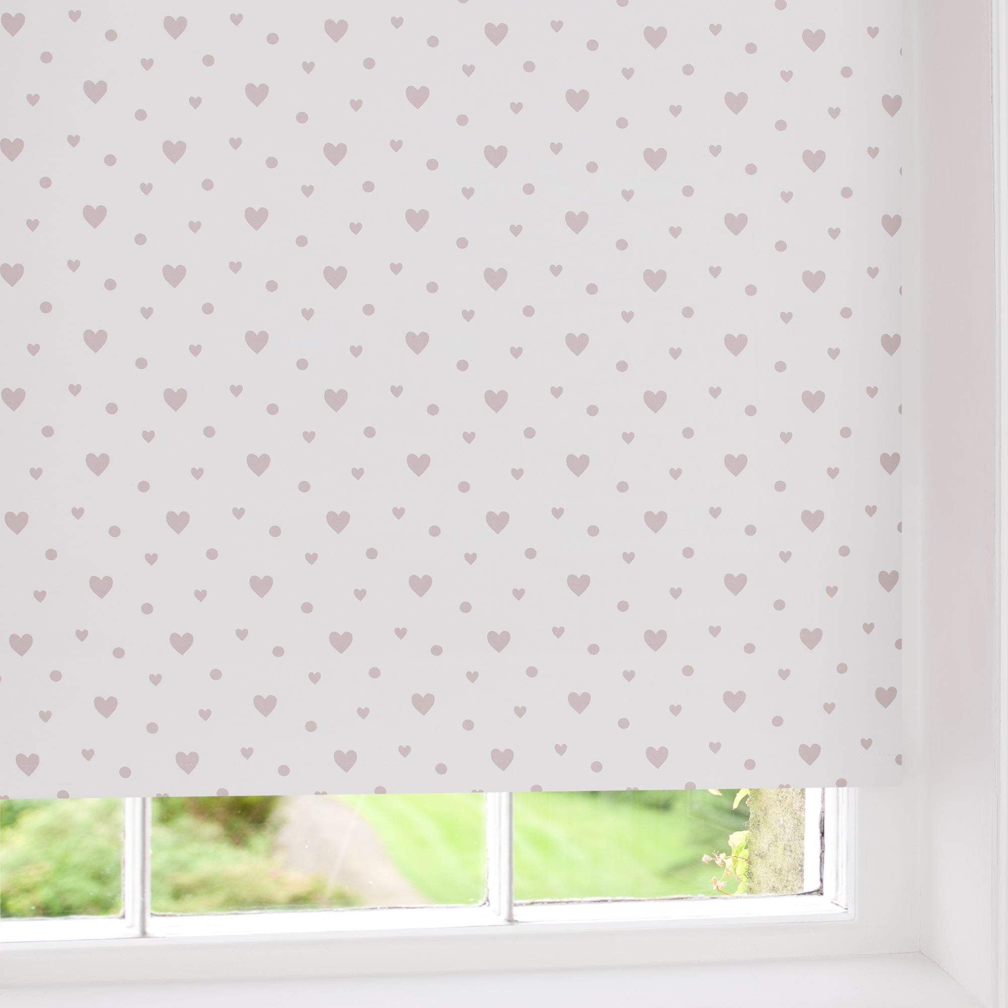 Hearts Blackout Roller Blind