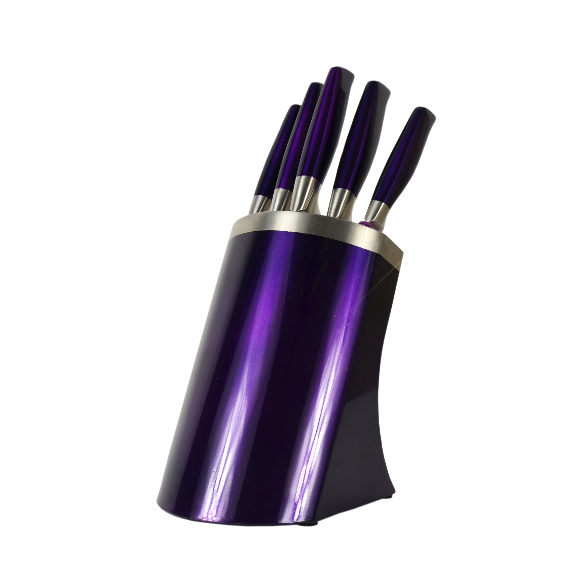 Purple Spectrum Collection 5 Piece Knife Block