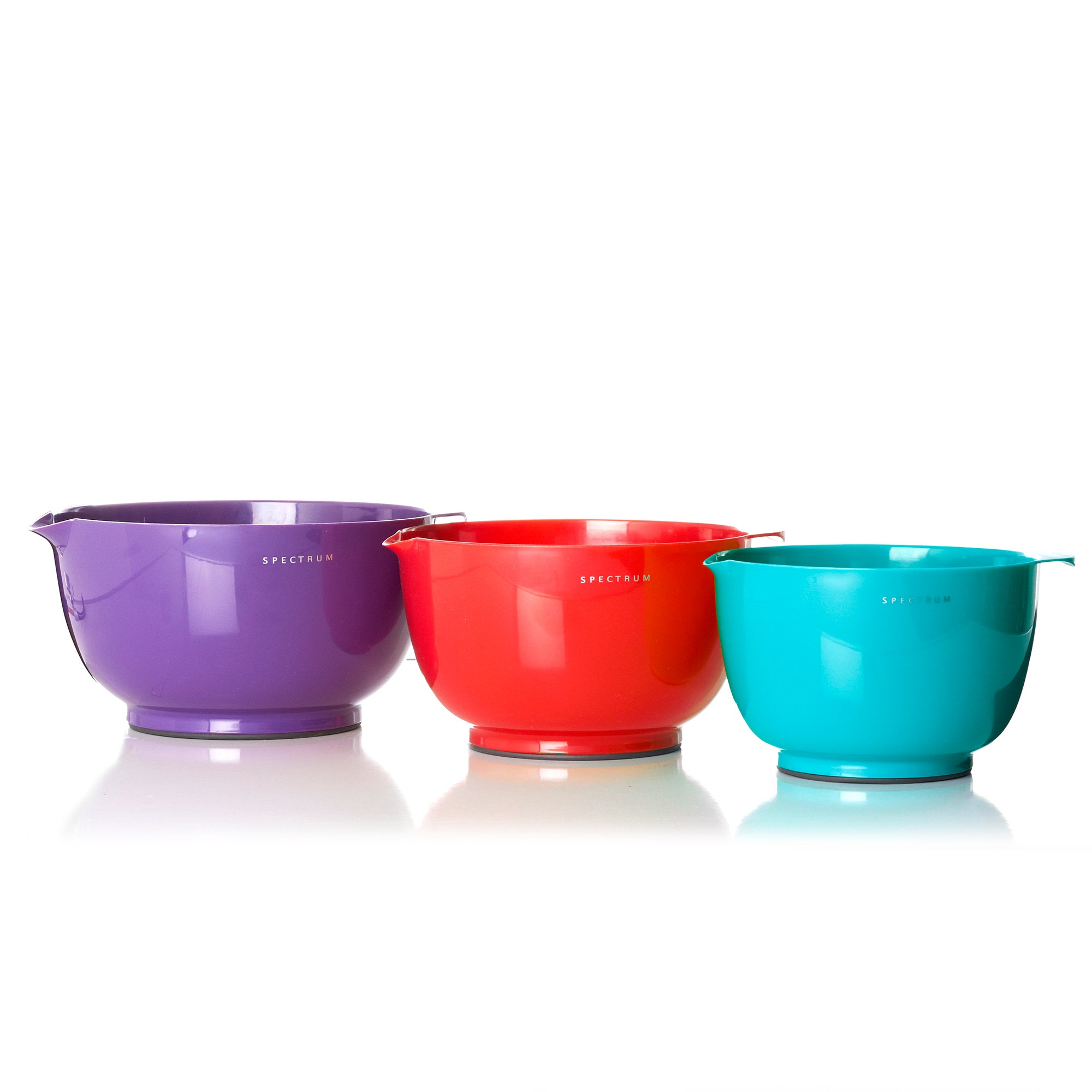 Spectrum Set of Three Plastic Mixing Bowls