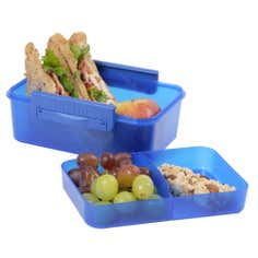 Clic-tite Blue 1.1 Litre Double Decker Lunch Box