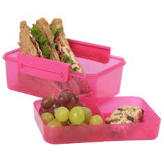 Clic-tite Pink 1.1 Litre Double Decker Lunch Box