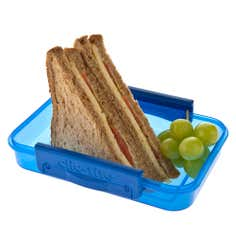Clic-tite Blue 550ml Sandwich Box