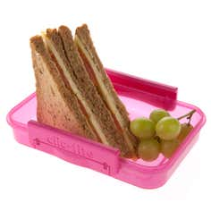 Clic-tite Pink 550ml Sandwich Box