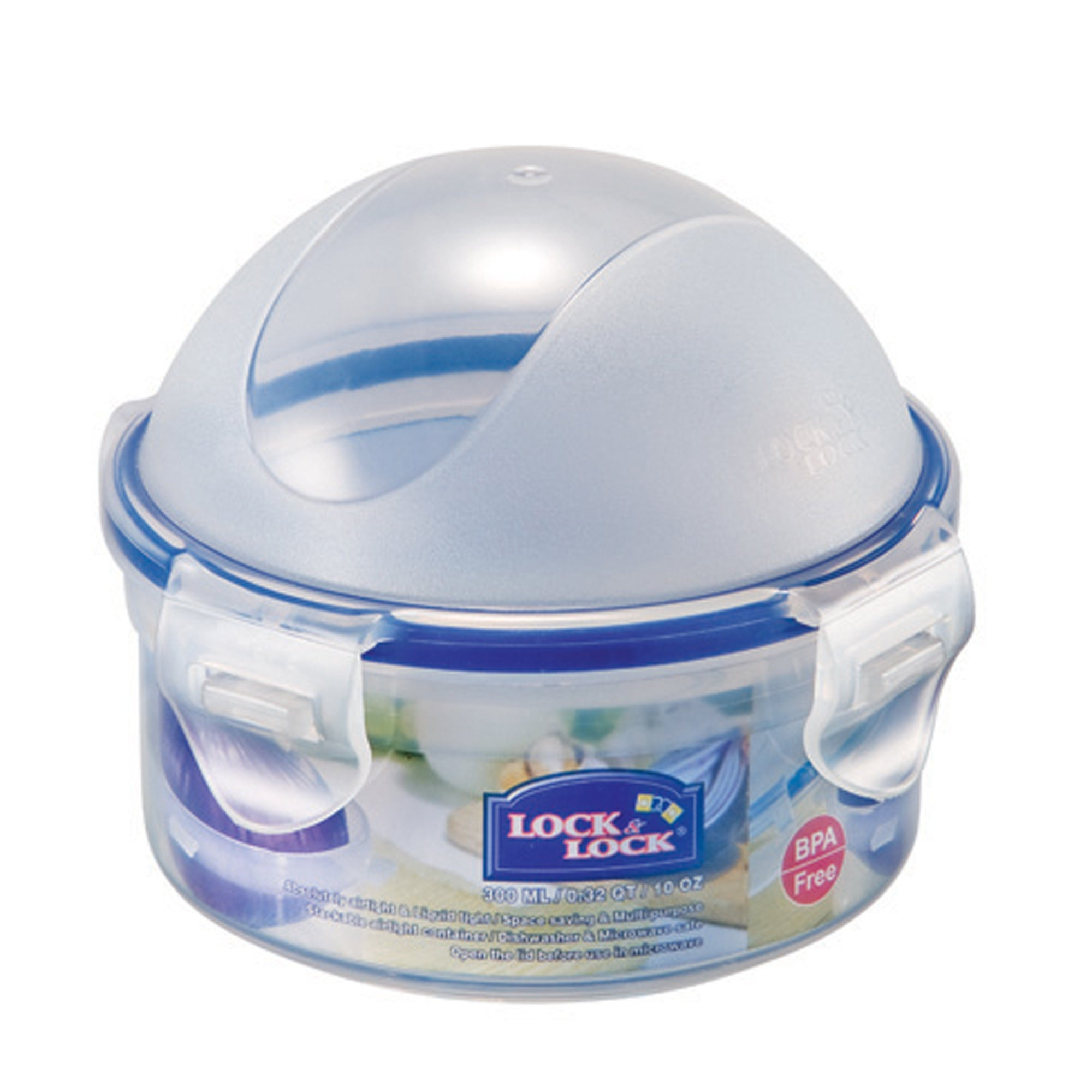 Lock & Lock Round Food Container with Domed Lid