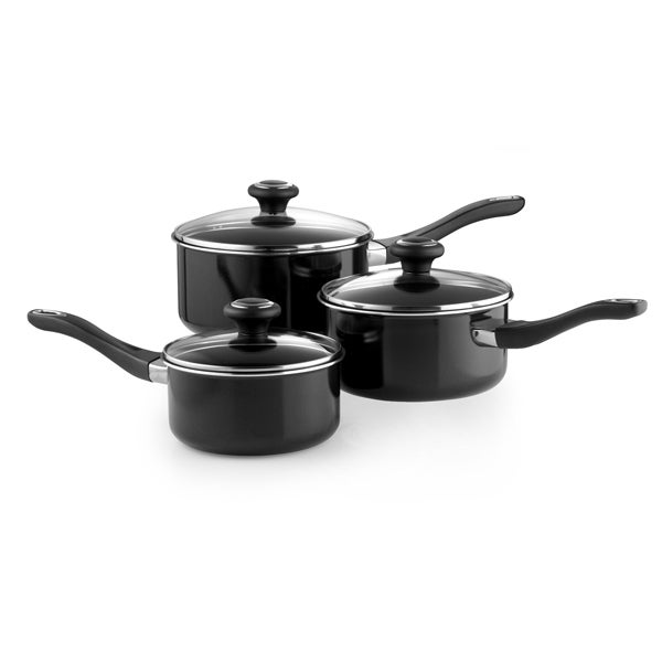Prestige Aluminium 3 Piece Saucepan Set
