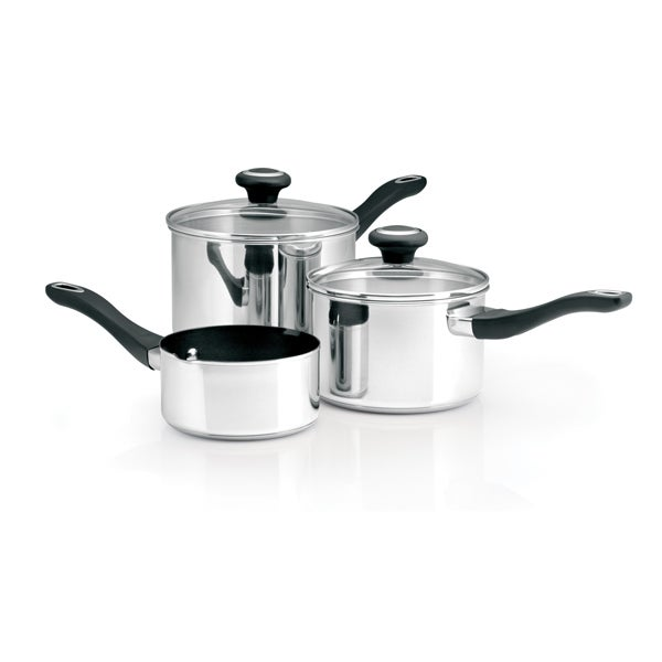 Prestige Stainless Steel 3 Piece Saucepan Set