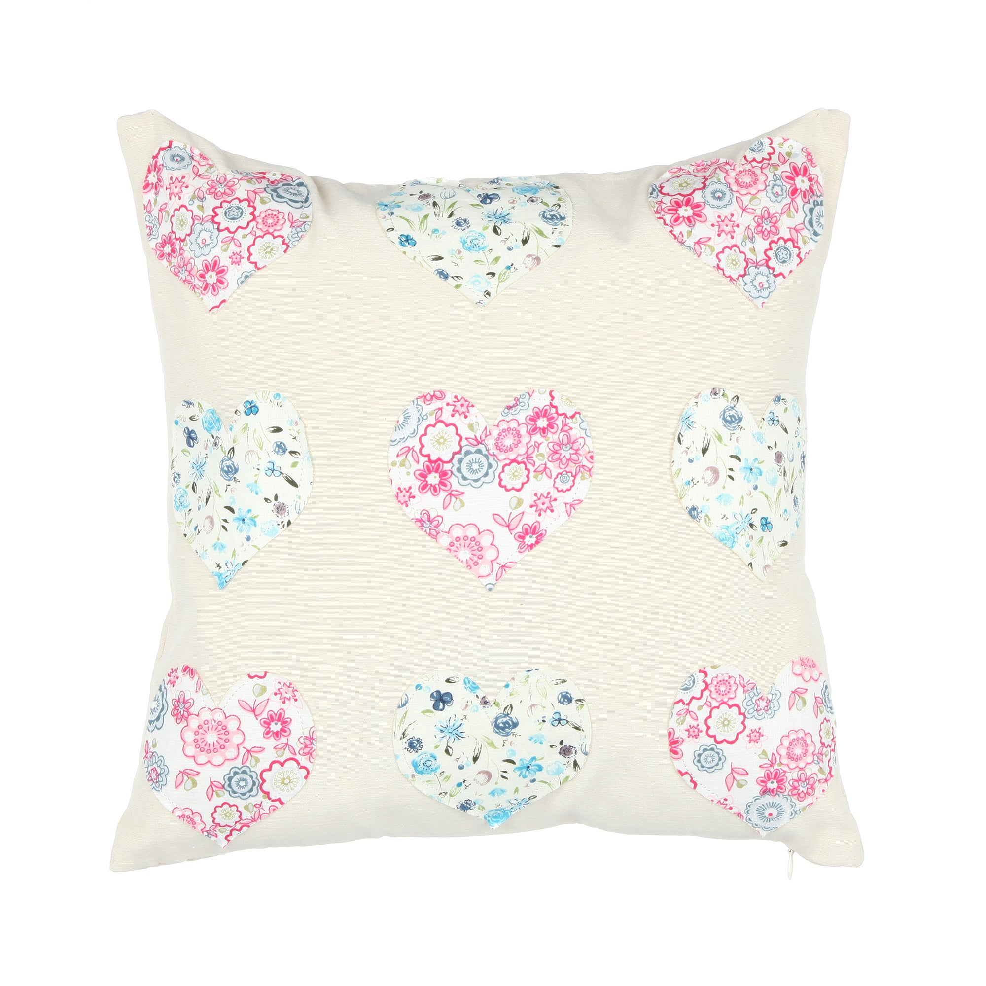 Applique Hearts Cushion