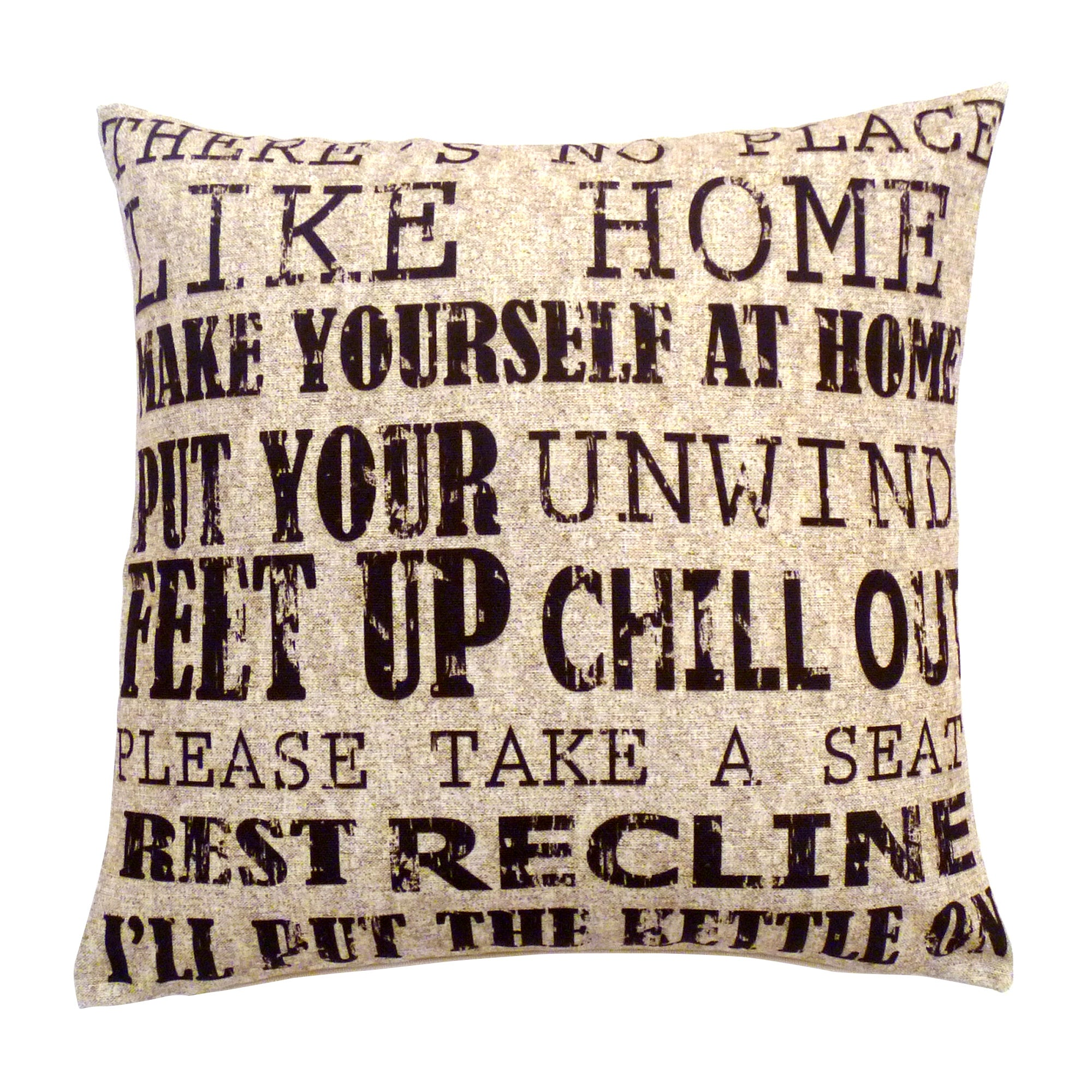 Vintage Text Cushion