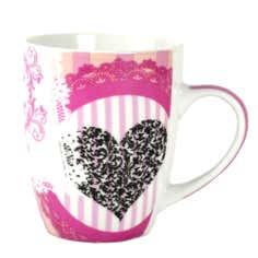 Pink Glamour Lace Mug