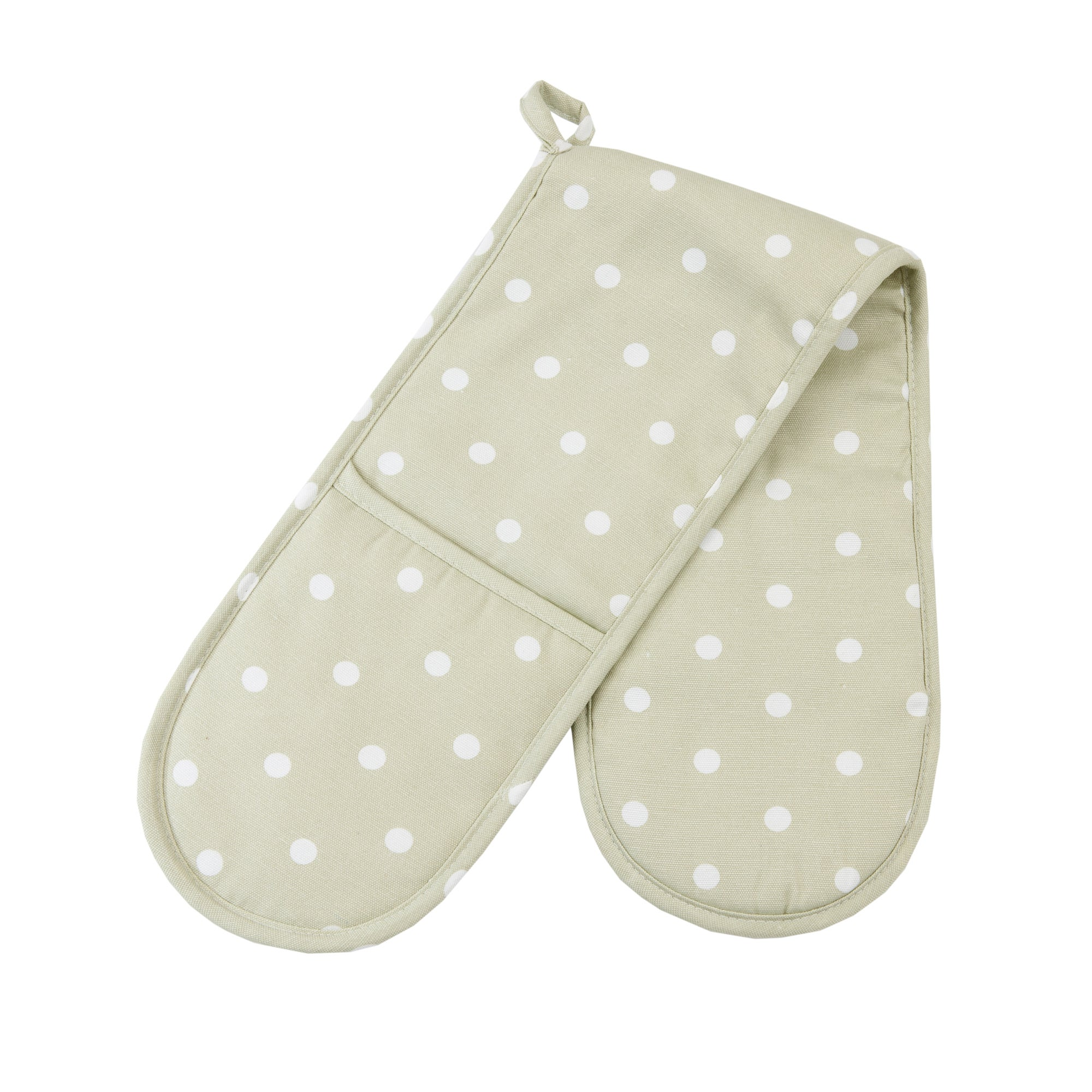 Sage Dotty Collection Double Oven Glove