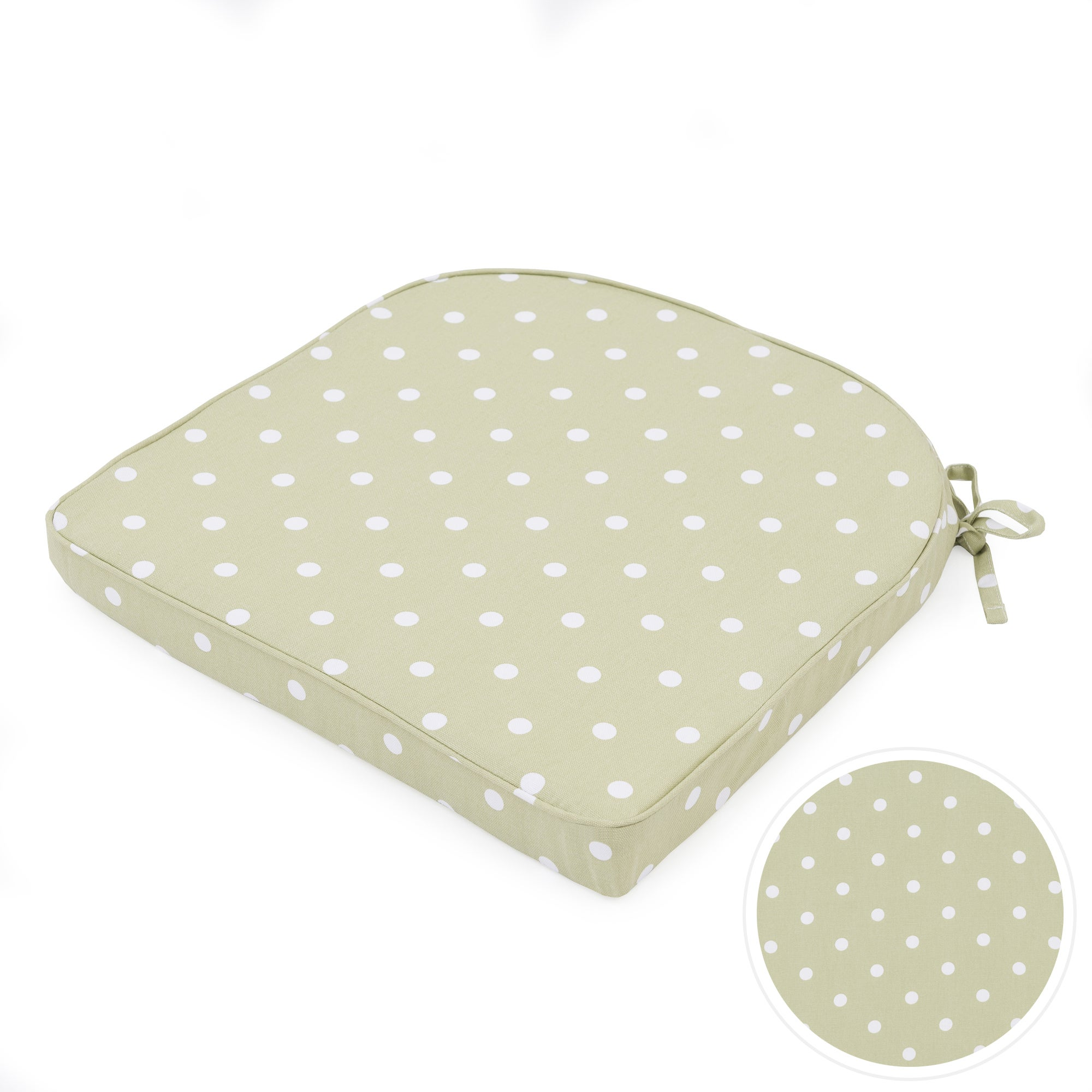 Sage Dotty Collection Seat Pad