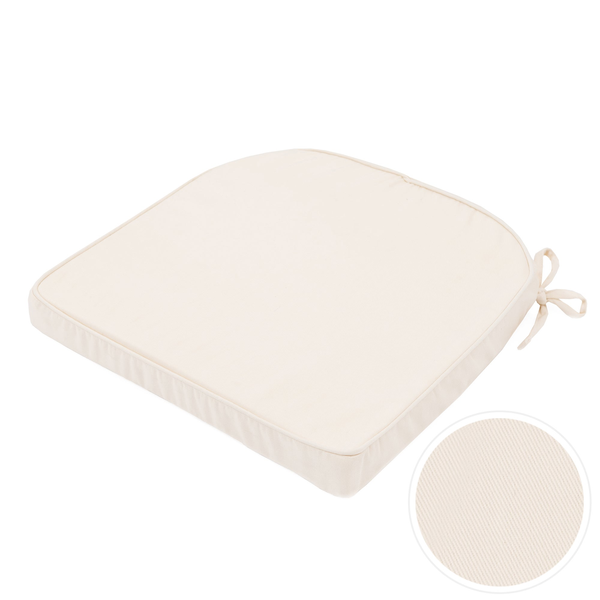 Cream Drill Foam Seat Pad
