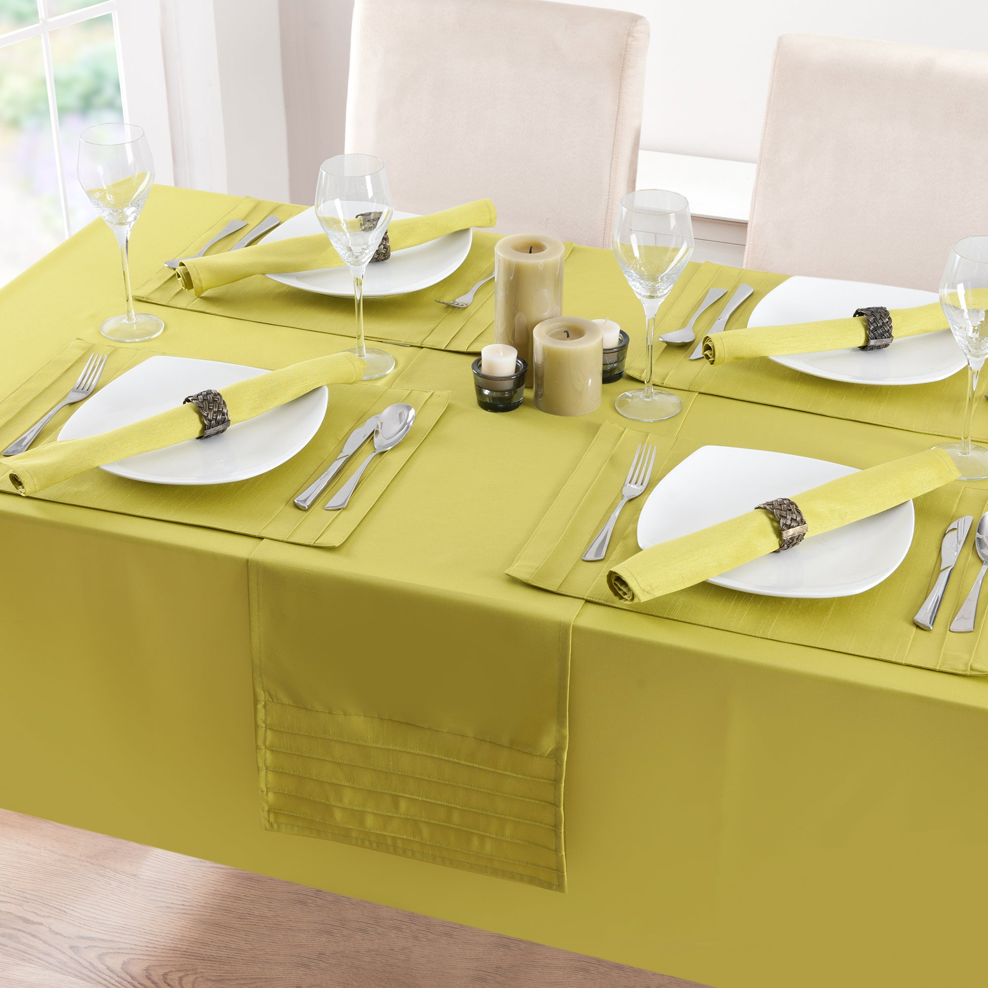 Lime Spectrum Collection Round Tablecloth