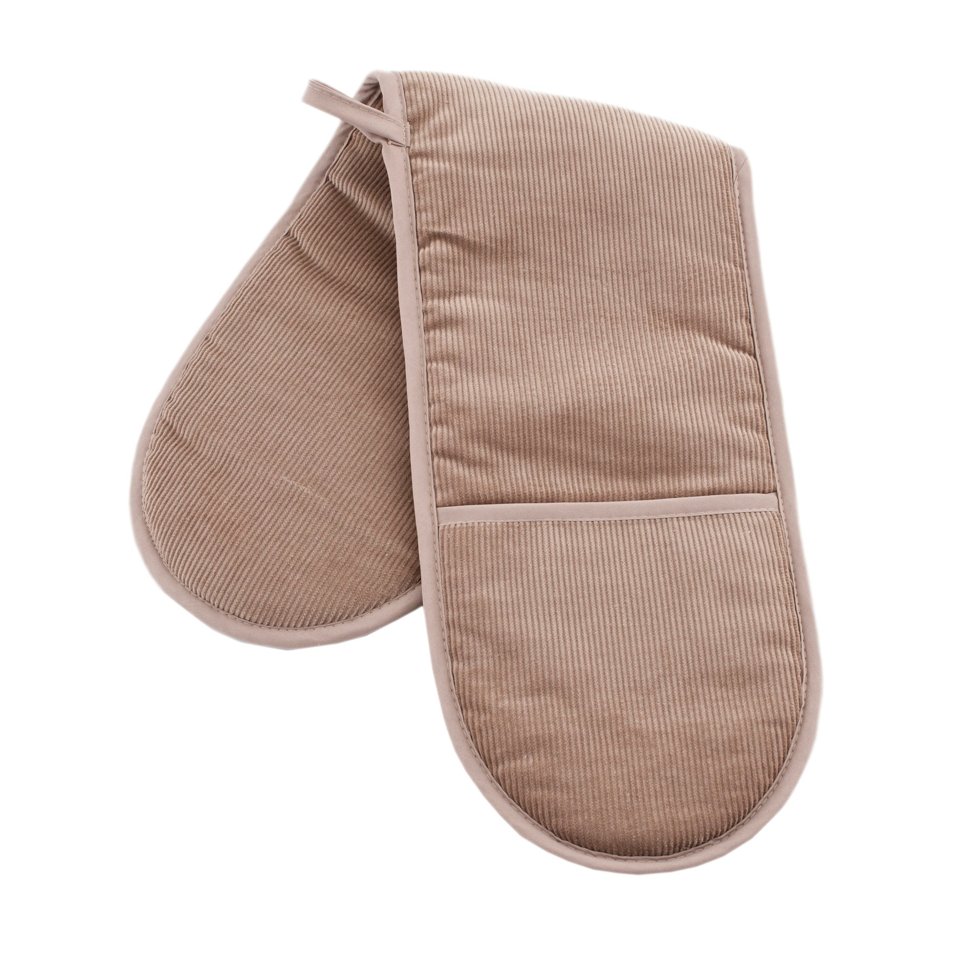 Waters and Noble Latte Cord Collection Double Oven Glove