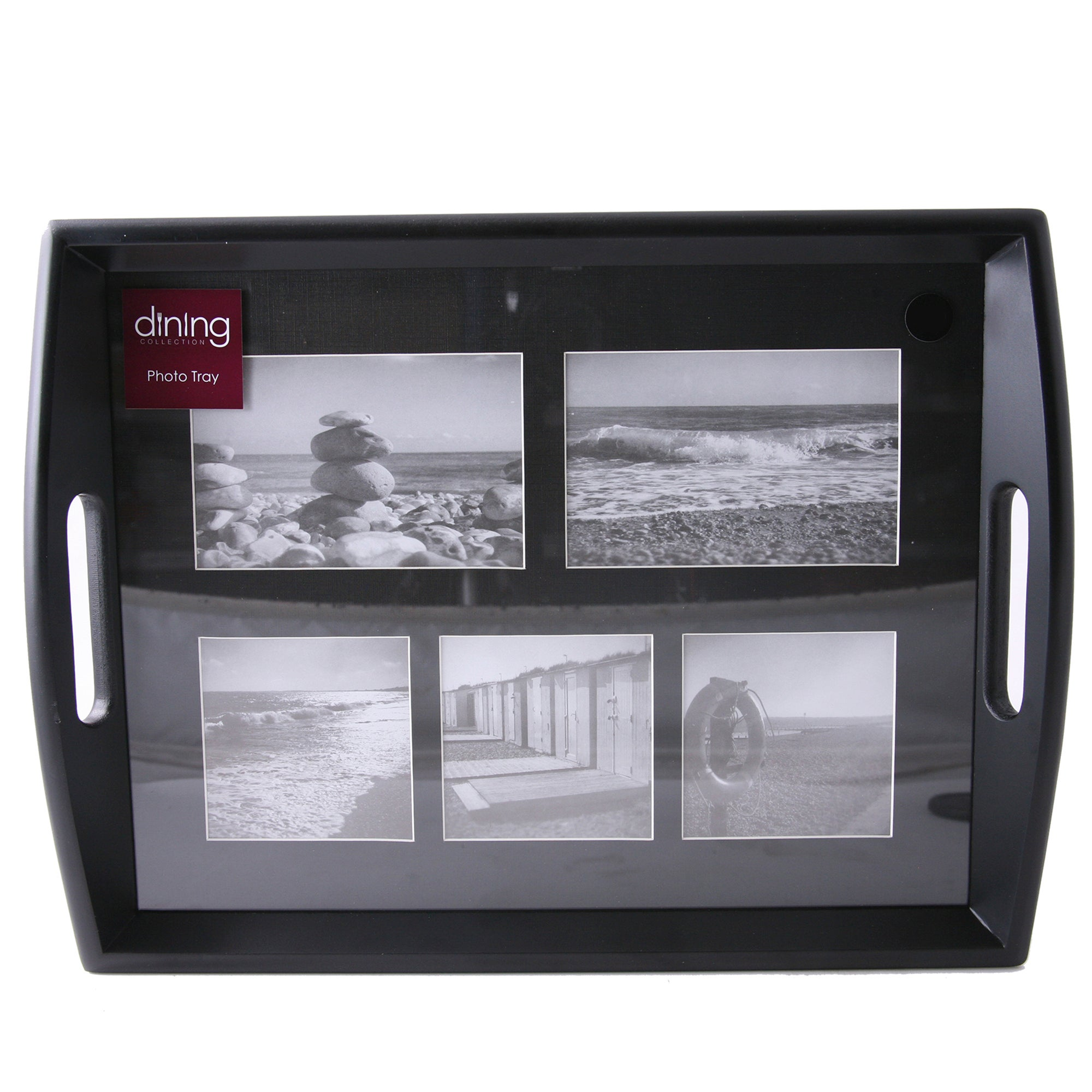 Black Wooden Photo Tray