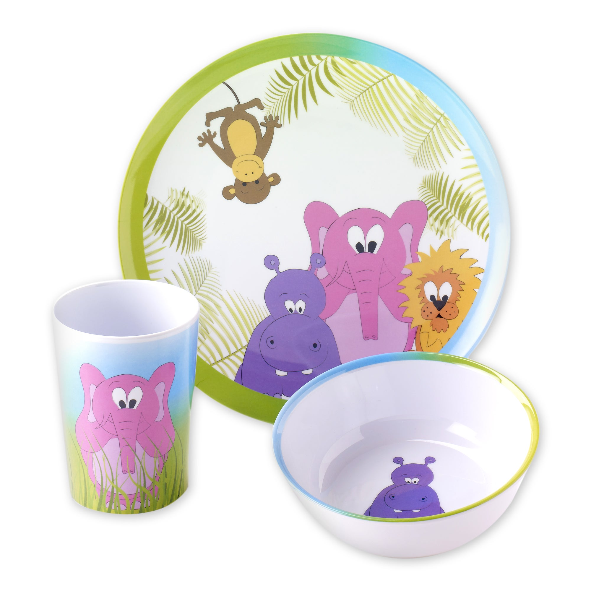 Viners Jungle 3 Piece Melamine Dinner Set