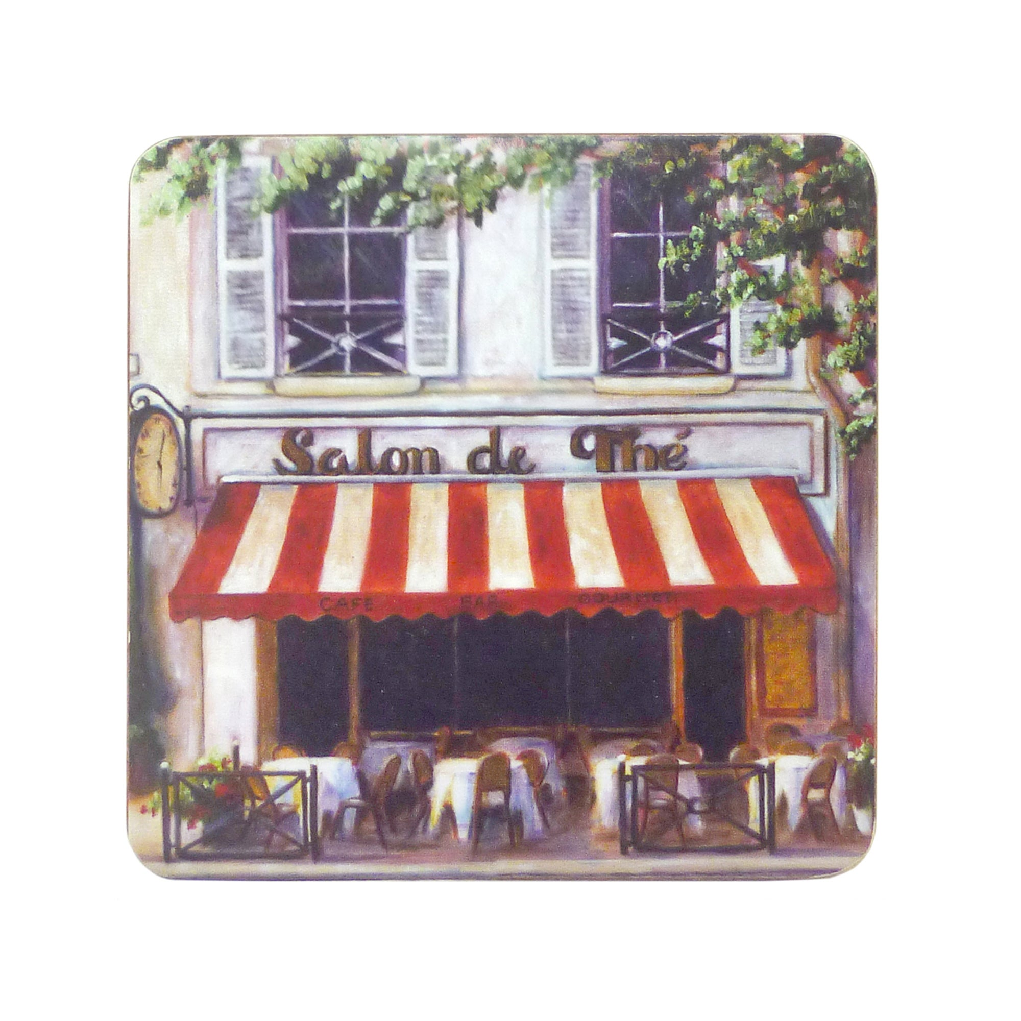 Cafe Scene Collection Set of 6 Coasters