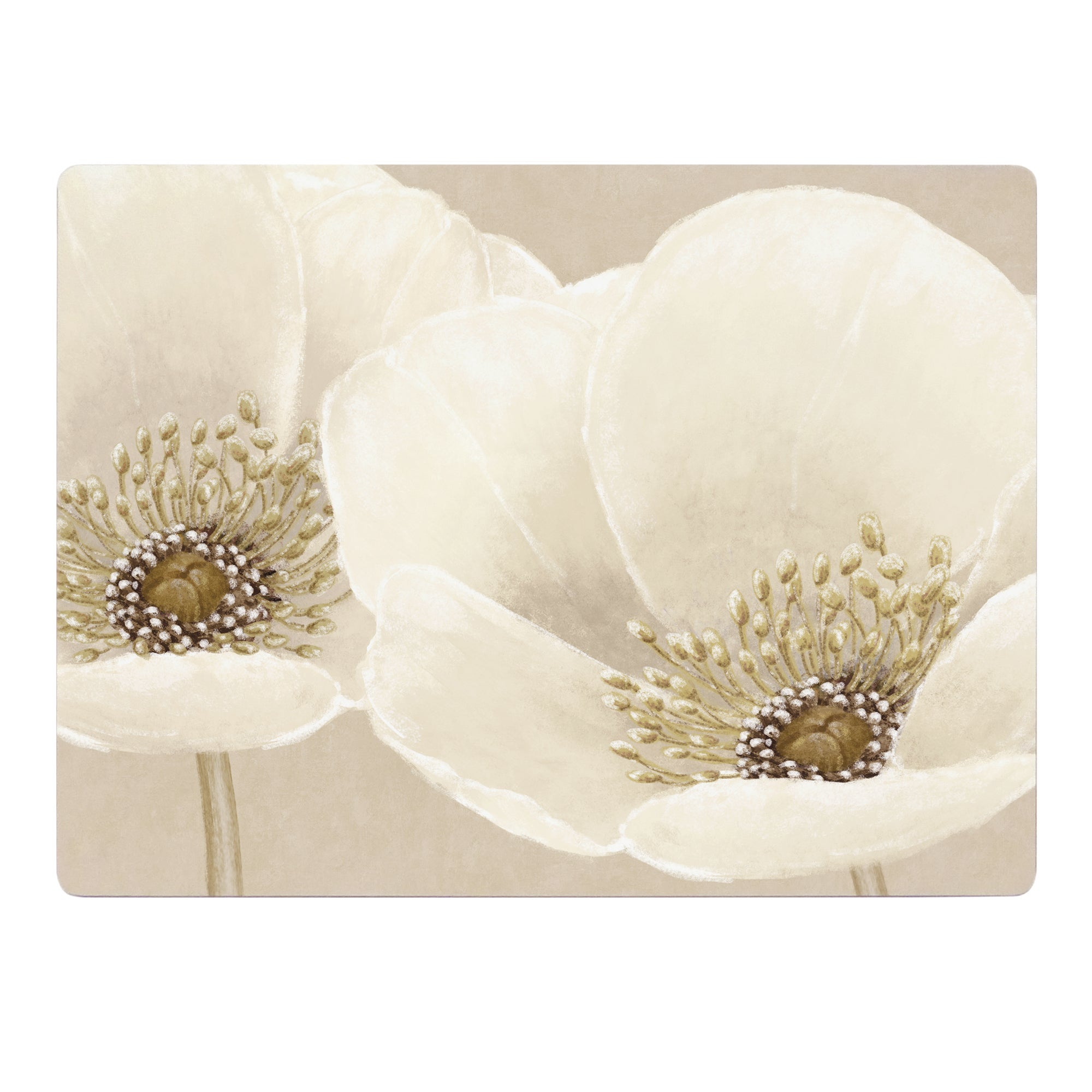 Neutral Flower Collection Set of 6 Placemats