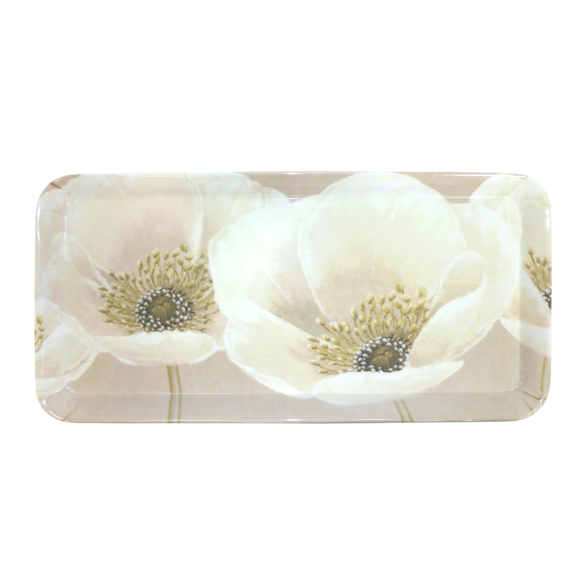 Neutral Flower Collection Small Serving Tray