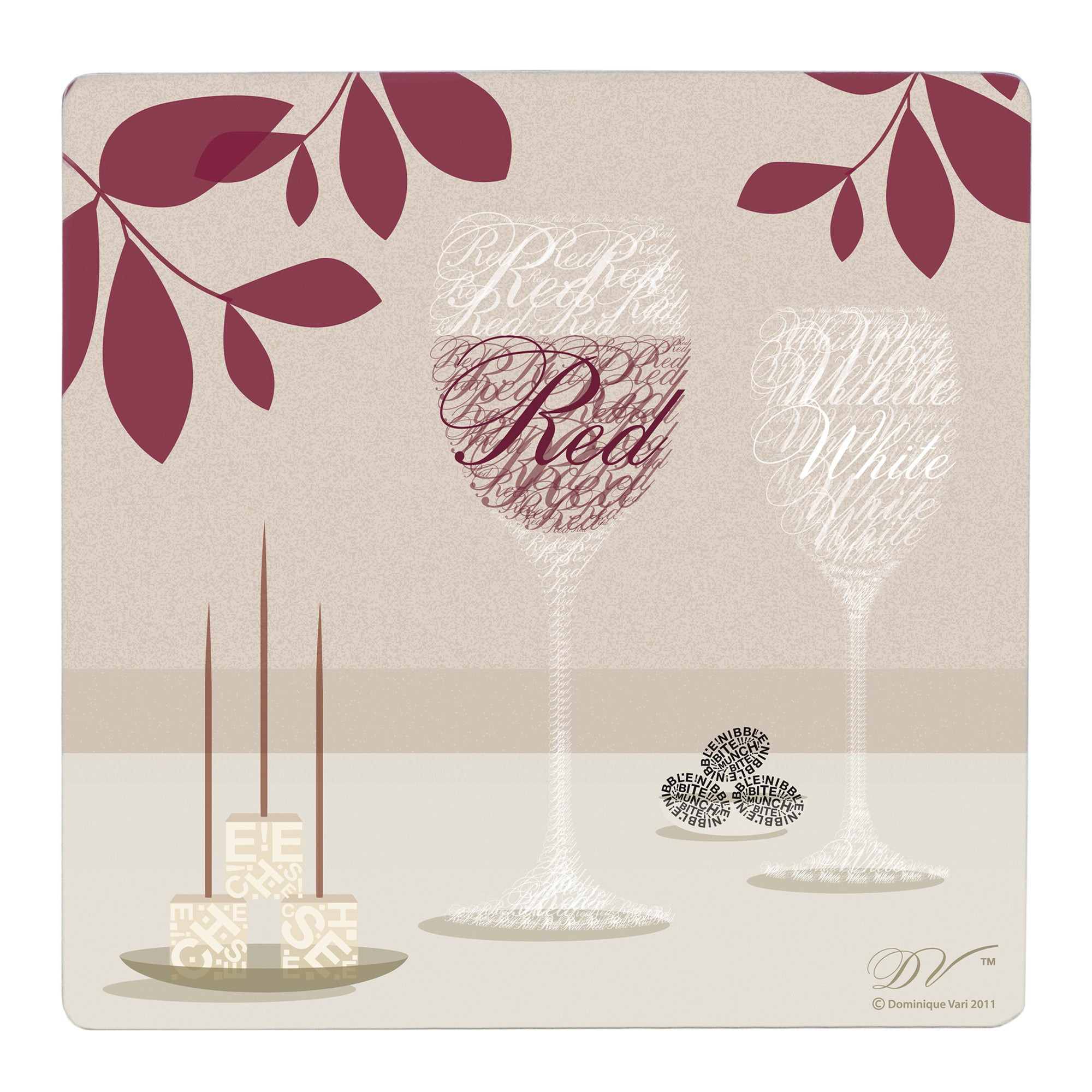 Wine Square Collection Set of 4 Placemats