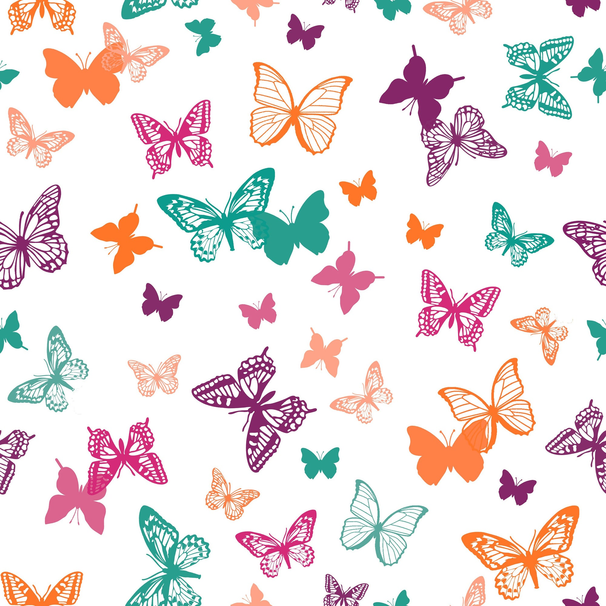 Butterflies PVC Fabric