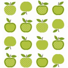 Green Apples PVC Fabric