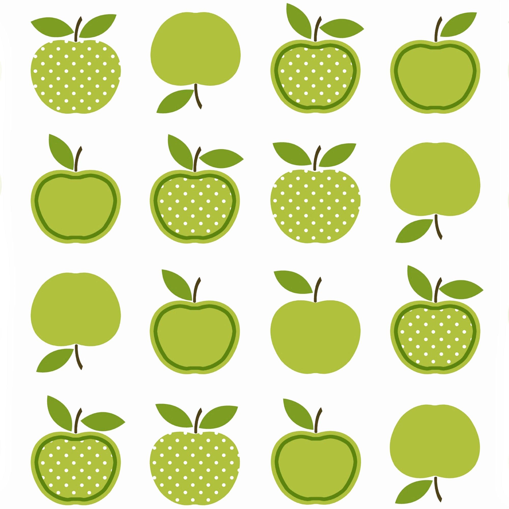 Green Apples PVC Fabric