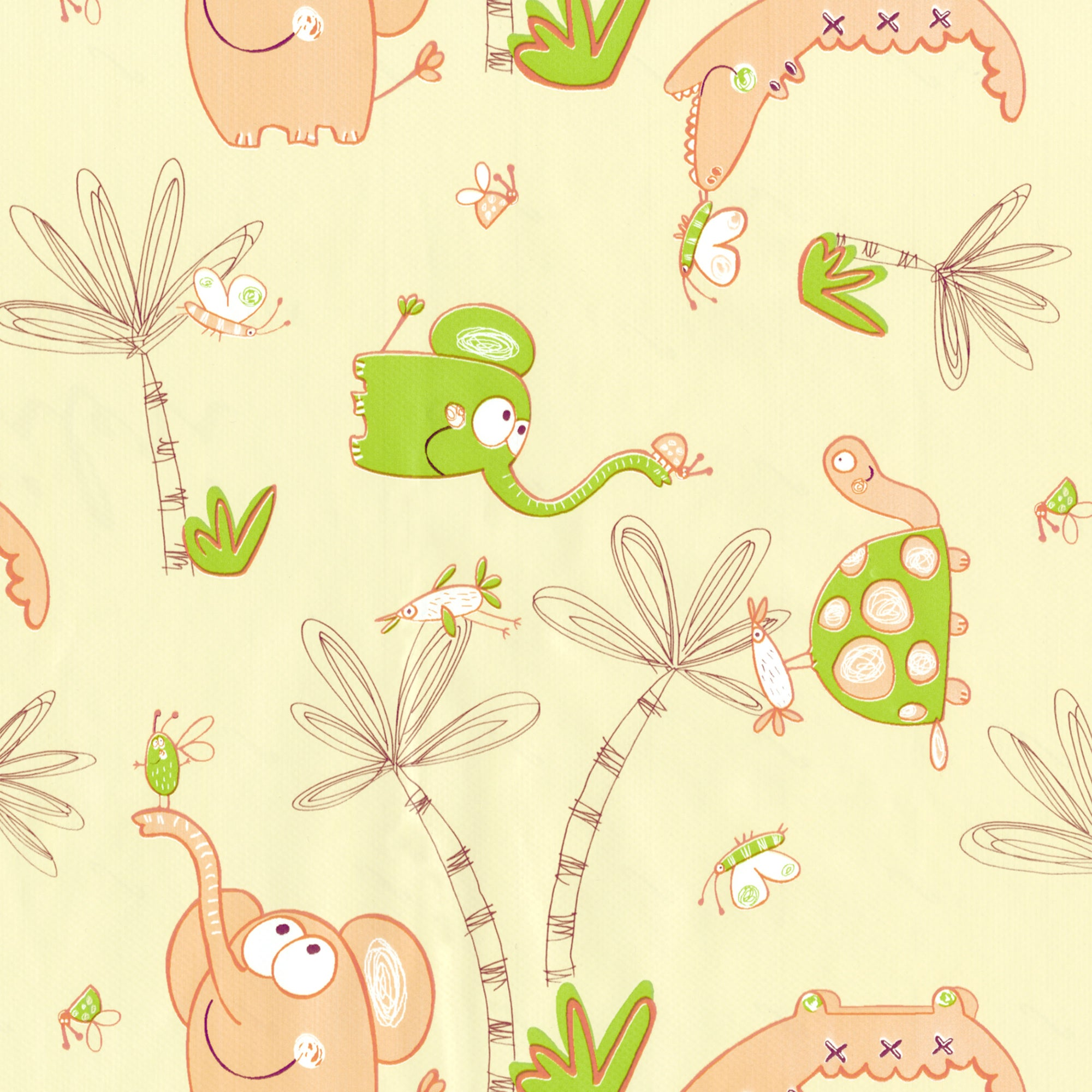 Kids Nursery PVC Fabric