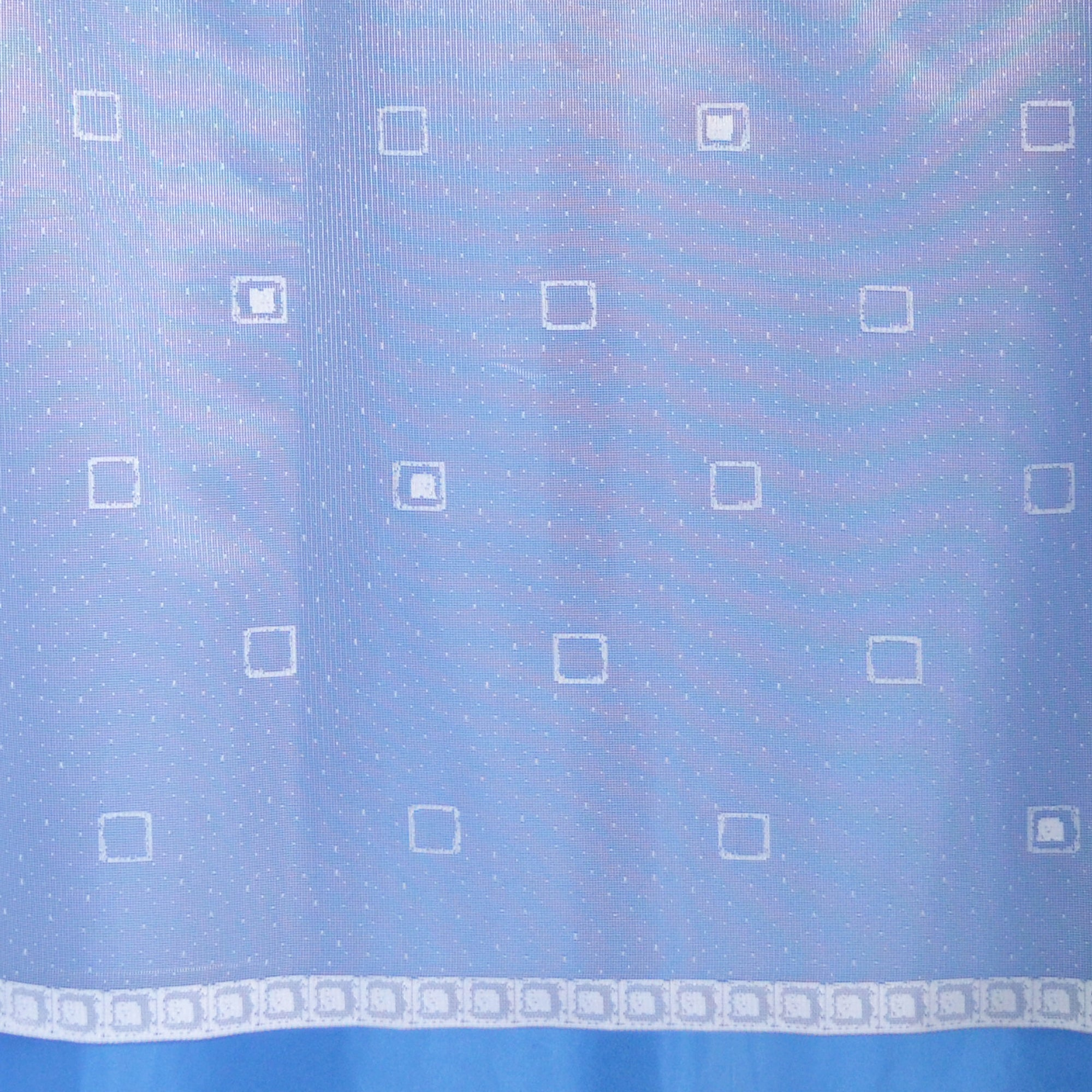 White Squares Lace Voile Panel
