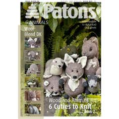 Patons Wool Blend Woodland Animals Two Knitting Book