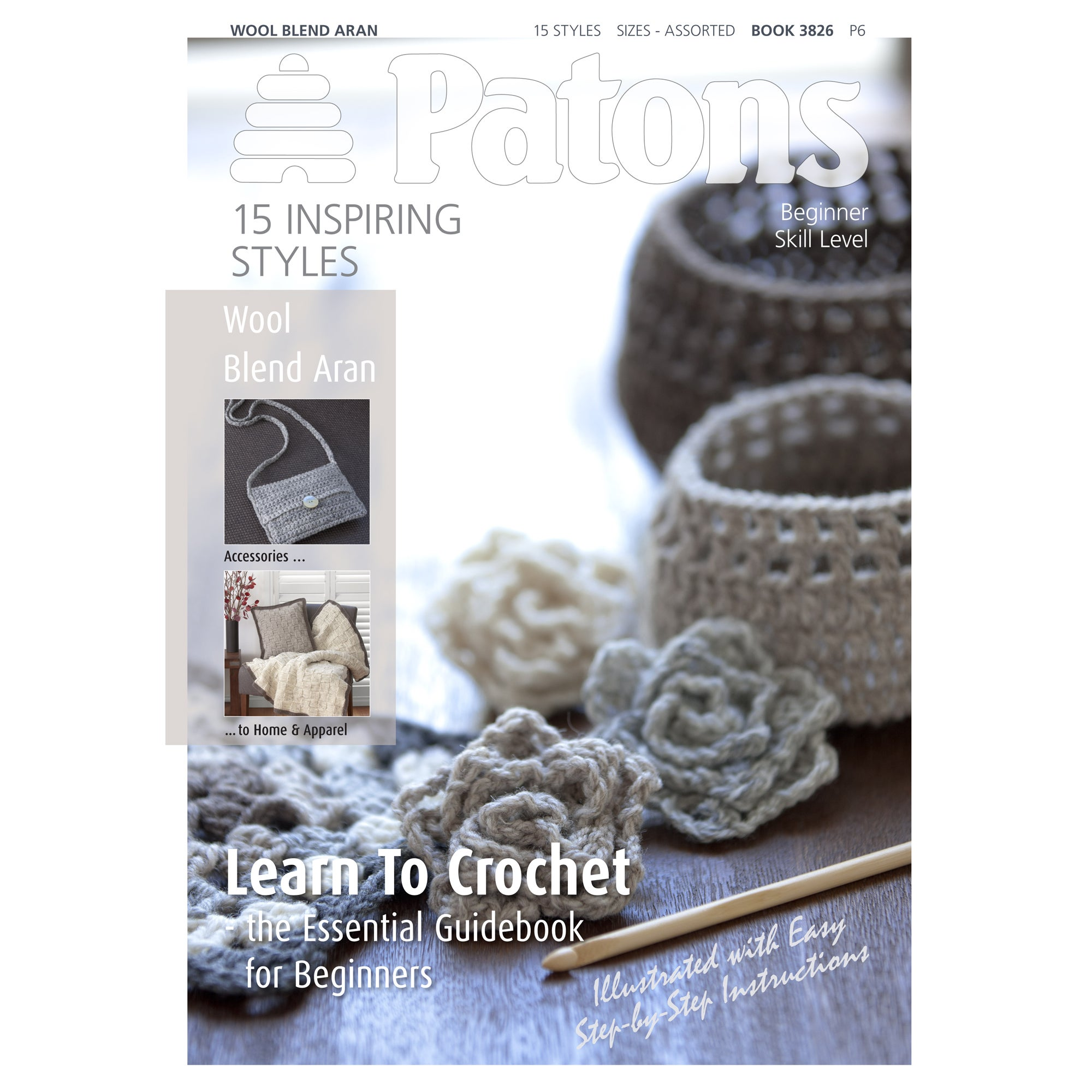 Patons Wool Blend Crochet Guide Book