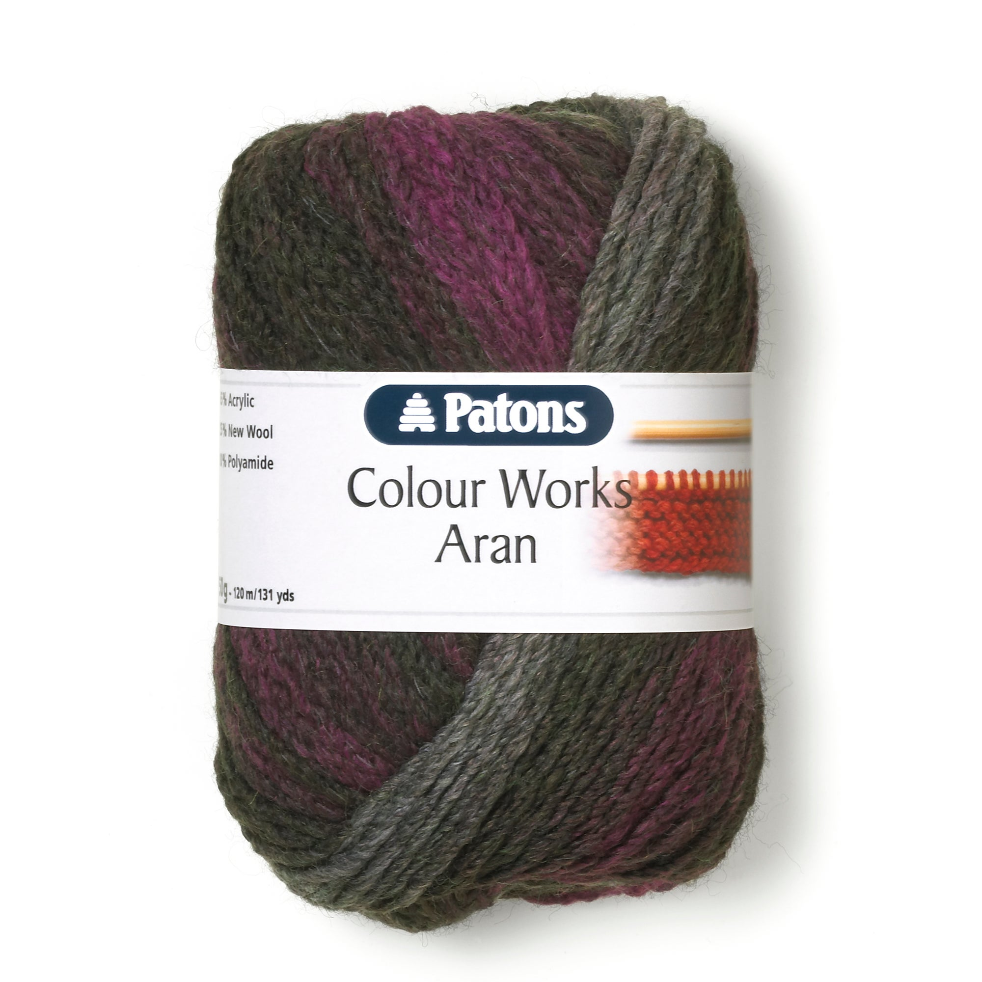 Patons Colour Works 50g Aran Yarn