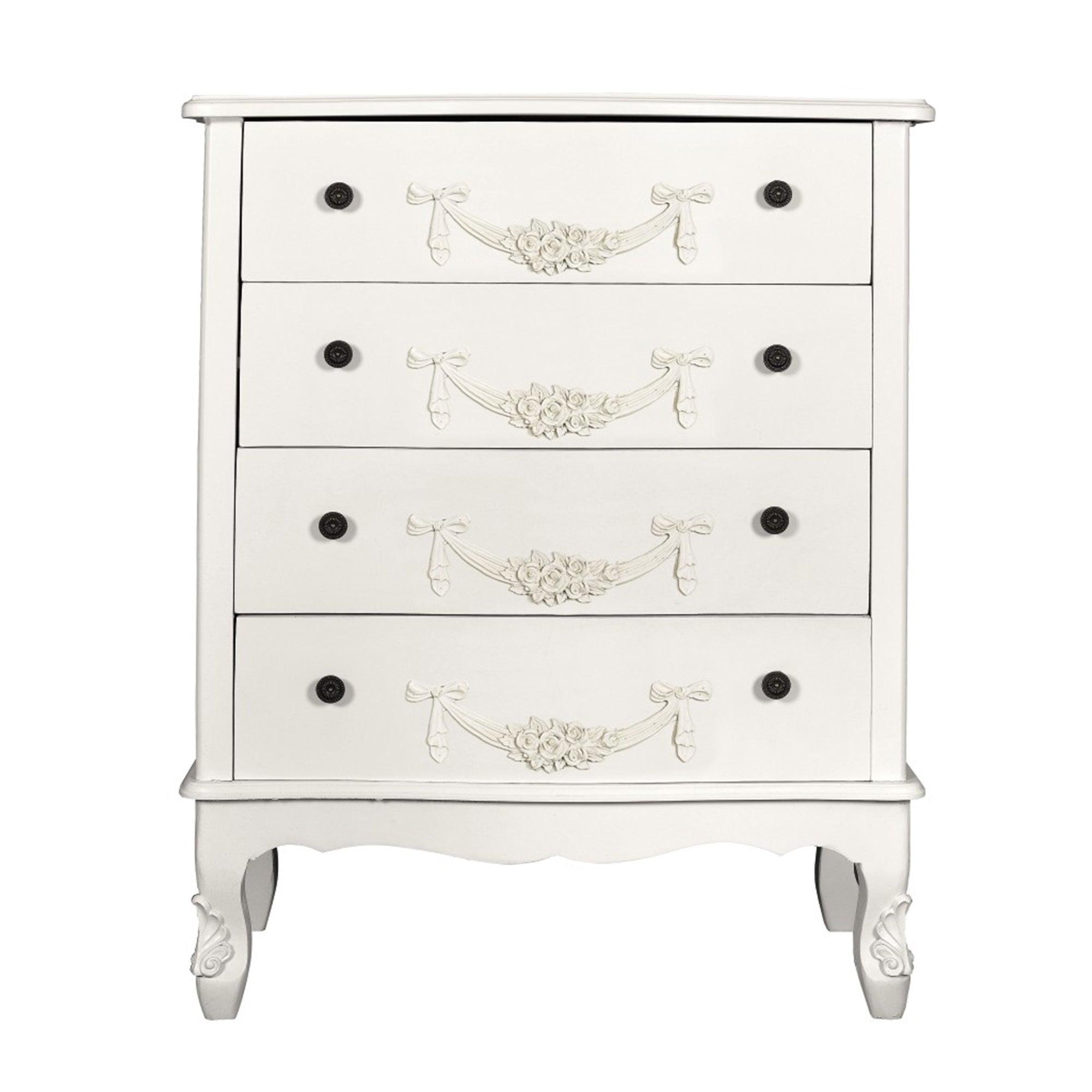 Toulouse White Four Drawer Chest