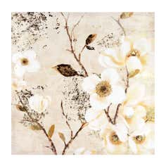 Gold Blossom Foiled Printed Canvas
