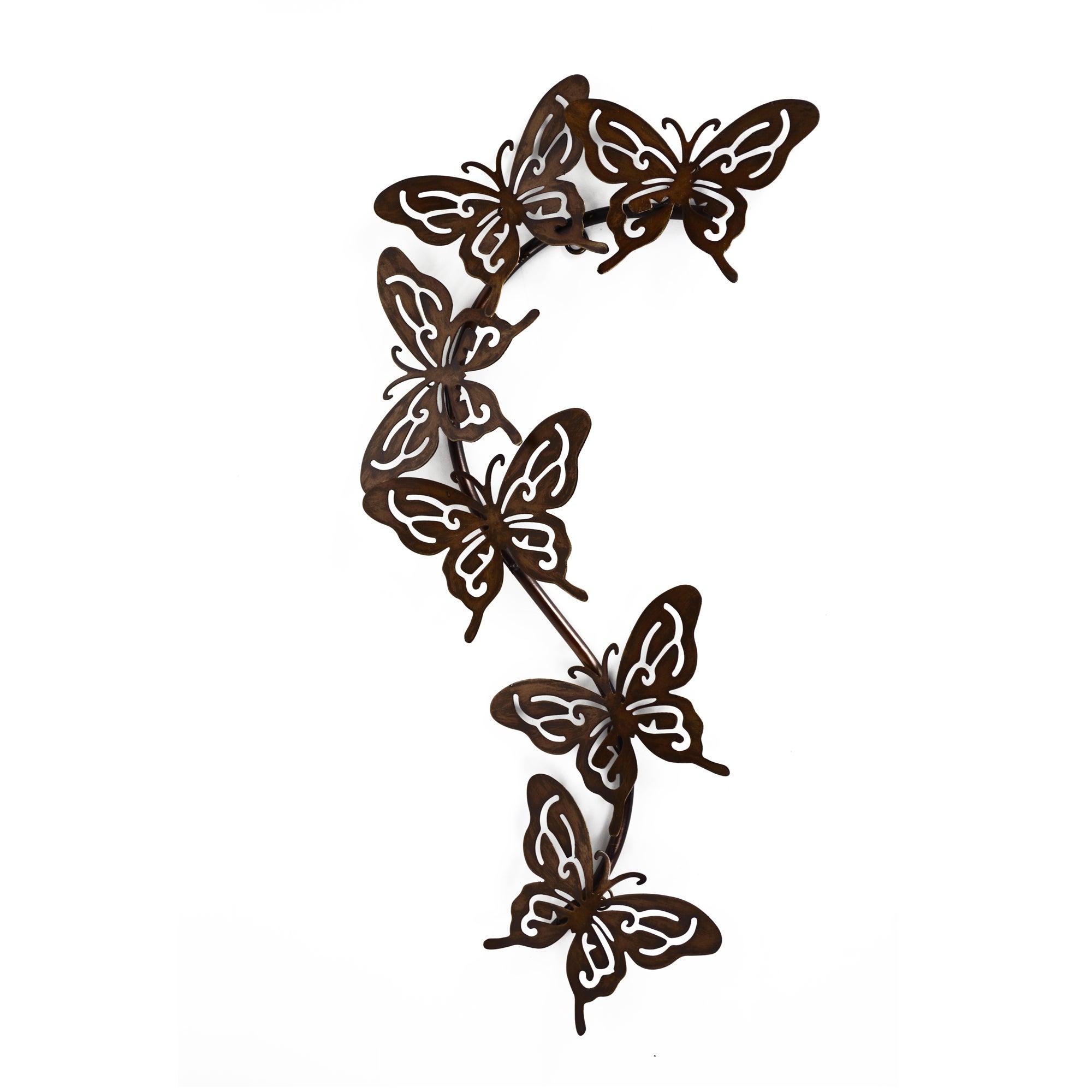 Cut Out Butterflies Metal Wall Art
