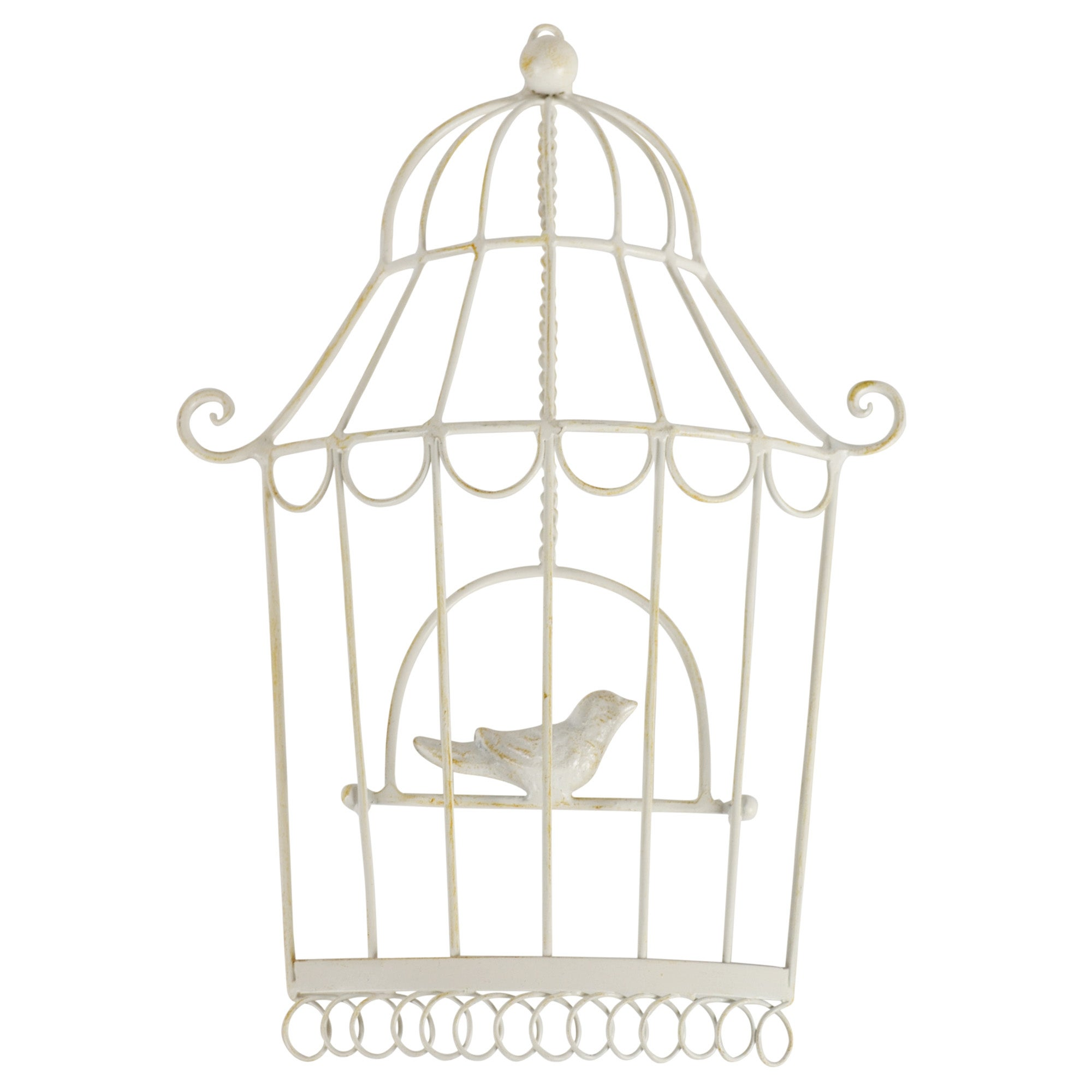 Cream Metal Birdcage