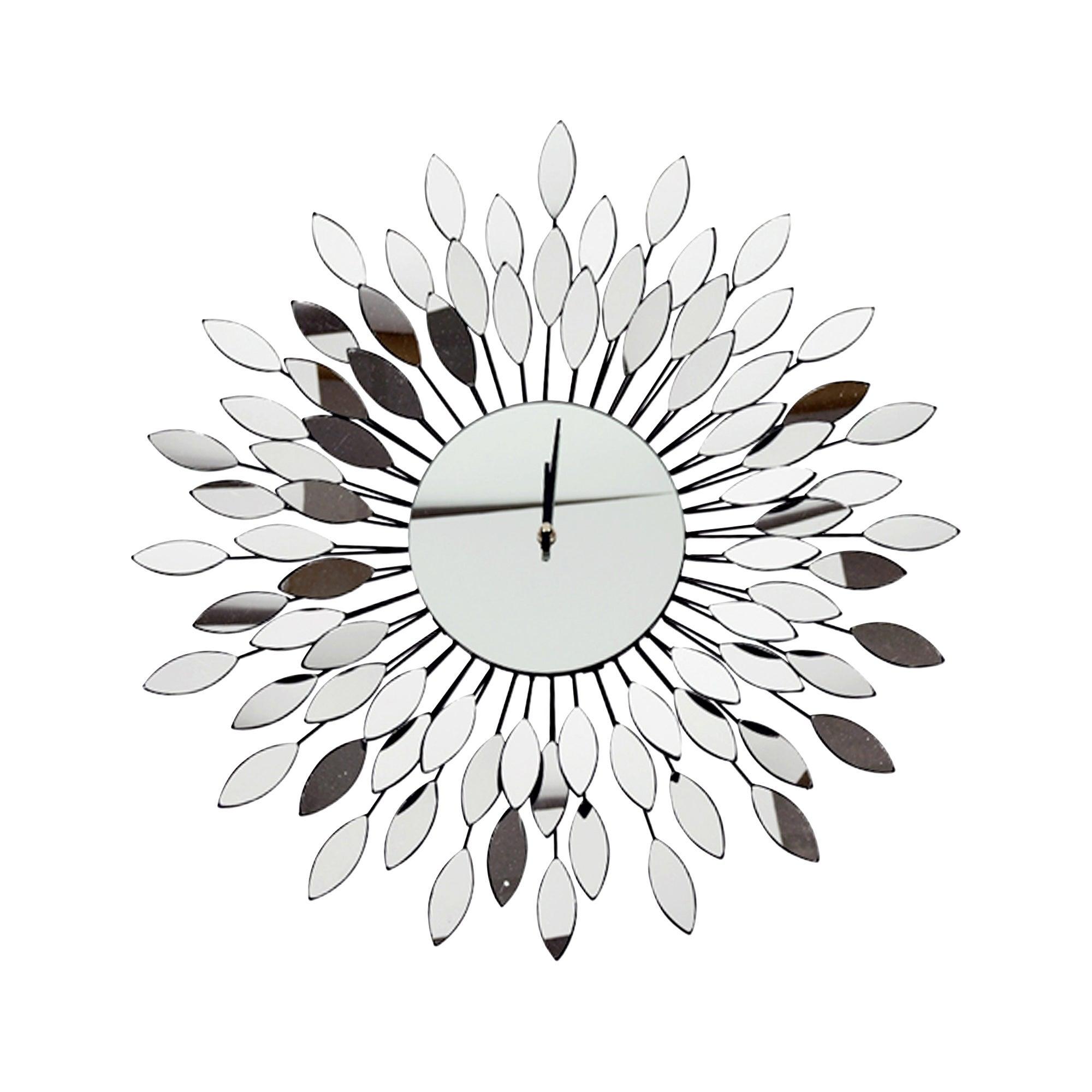 Mirror Starburst Wall Clock