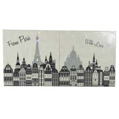 Paris with Love Printed Canvas