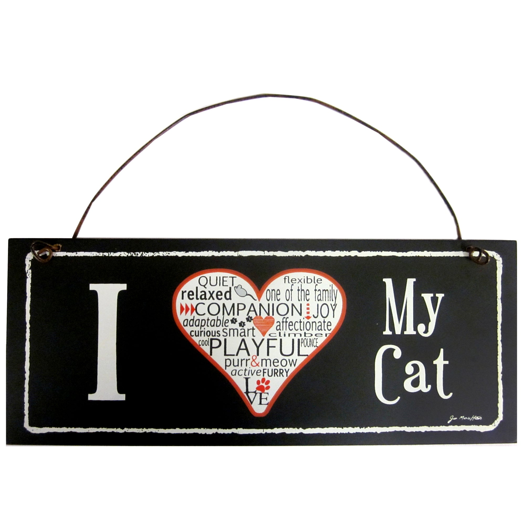 I Love My Cat Wall Plaque