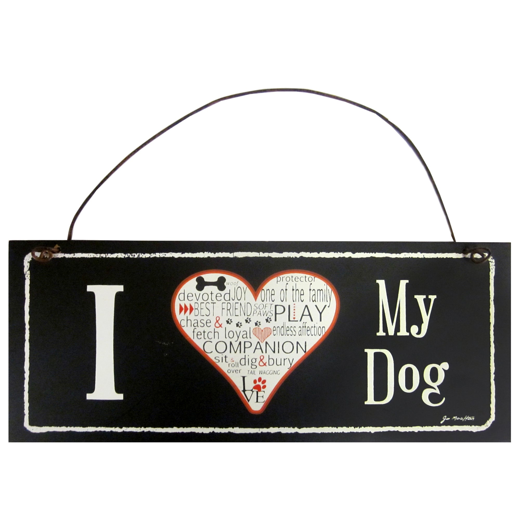 I Love My Dog Wall Plaque
