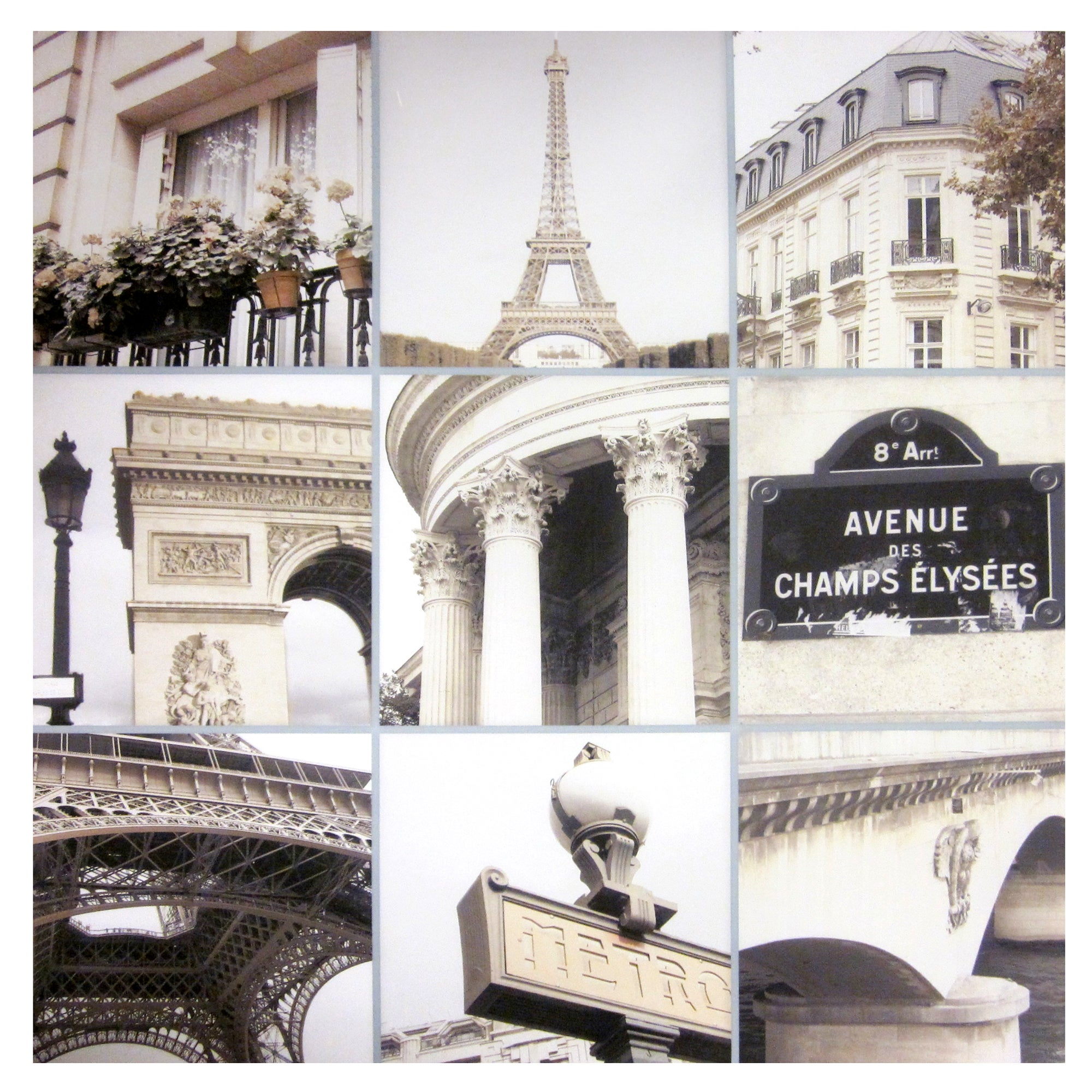 Paris Collage Printed Canvas