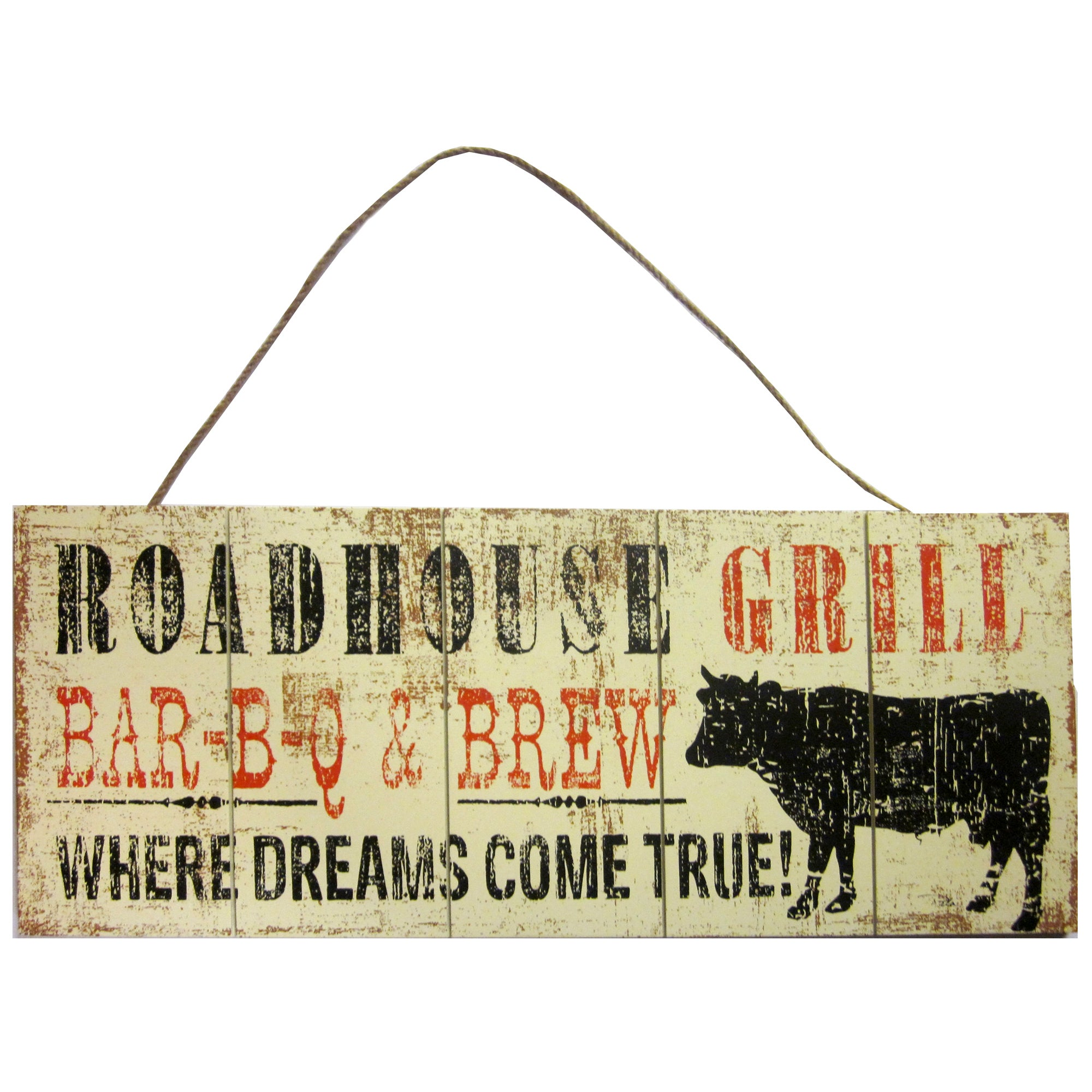 Roadhouse Grill Hanging Plaque