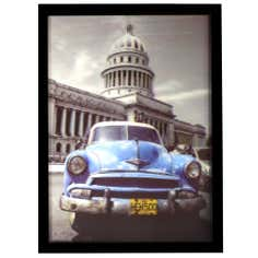 Car and Scooter 3D Framed Print