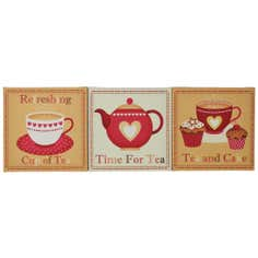 Time for Tea Printed Canvas