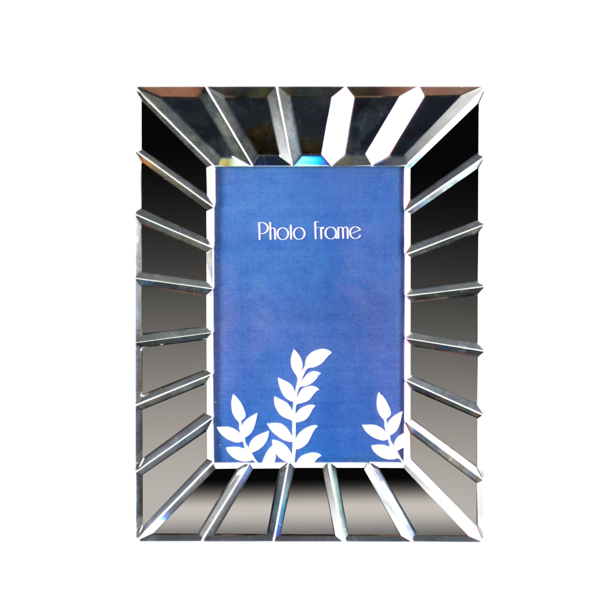 Blue Deco Collection Venetian Glass Mirror Photo Frame