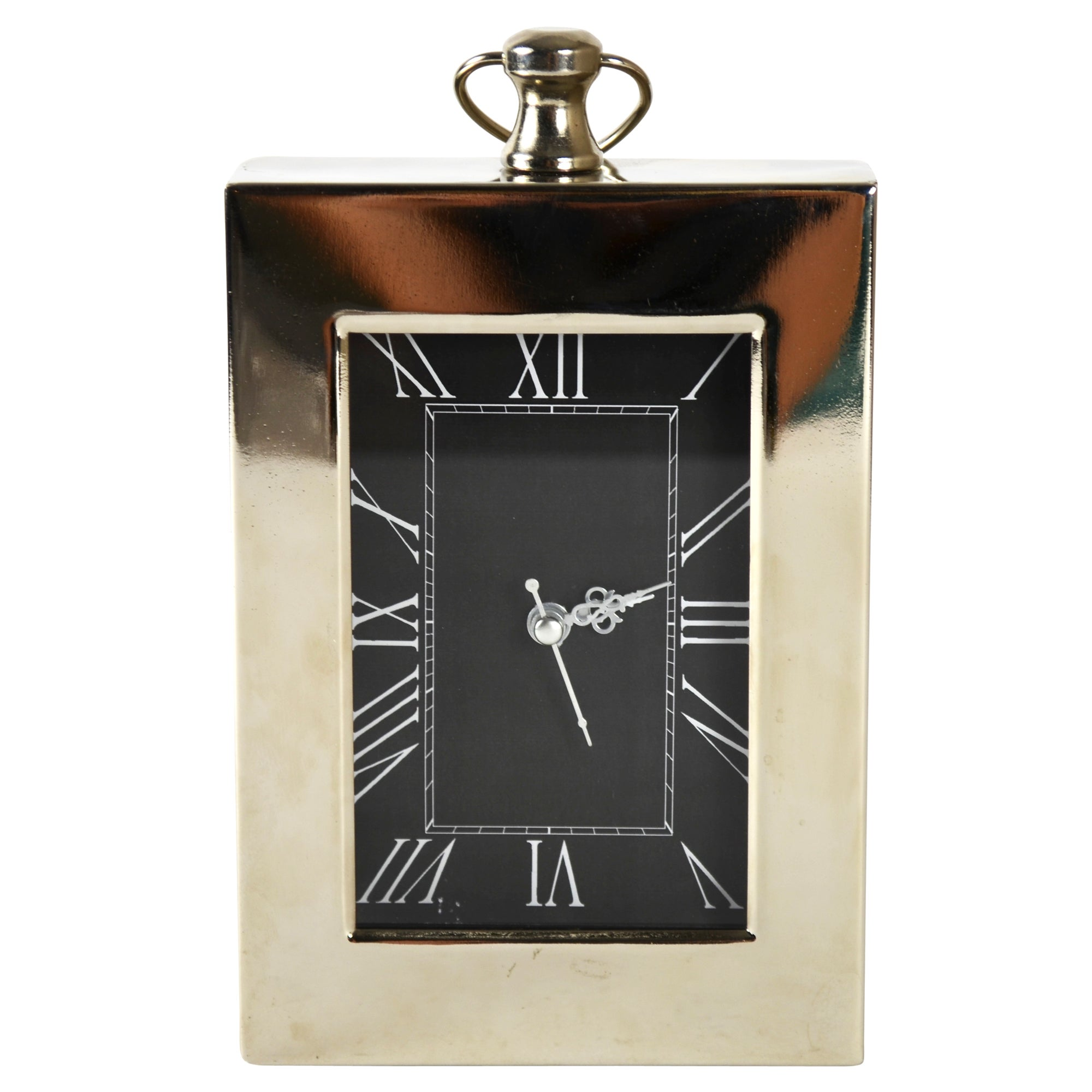 Blue Deco Collection Rectangular Boxed Clock