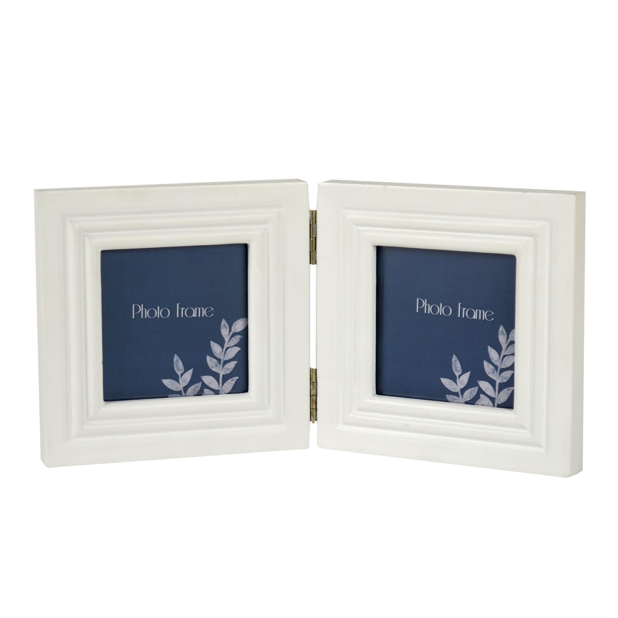 Blue Deco Collection Hinged Photo Frame