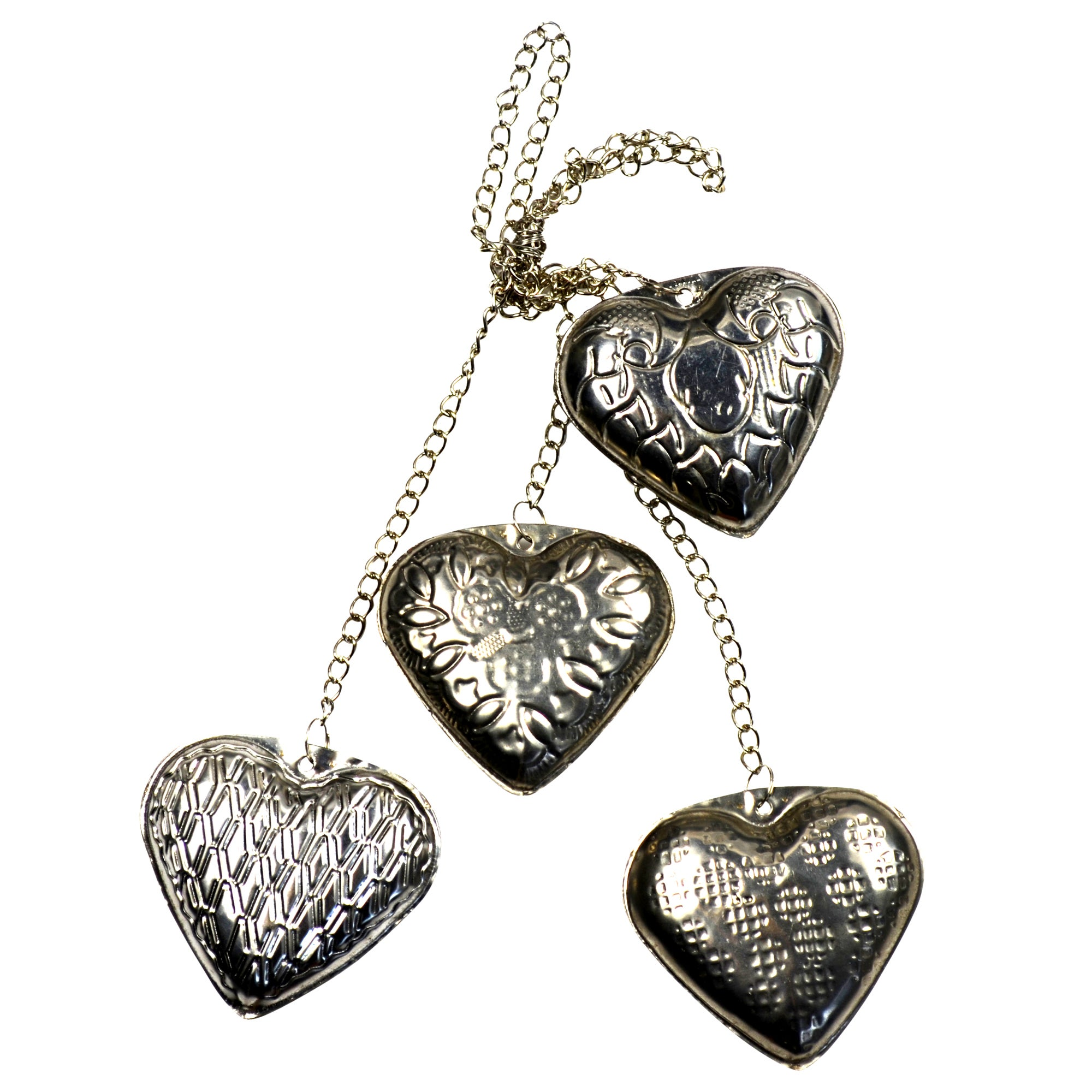 Burnt Sienna Collection Metal Hearts Chain