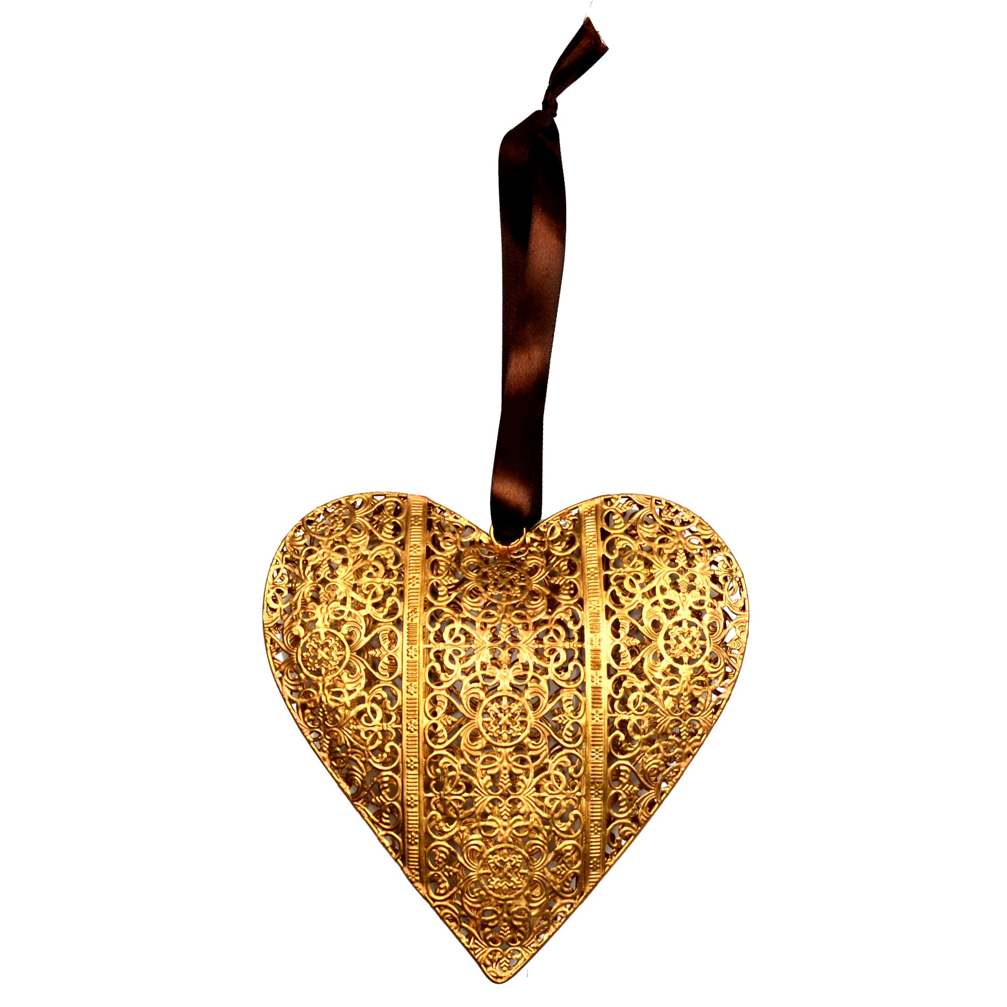Burnt Sienna Collection Hanging Heart
