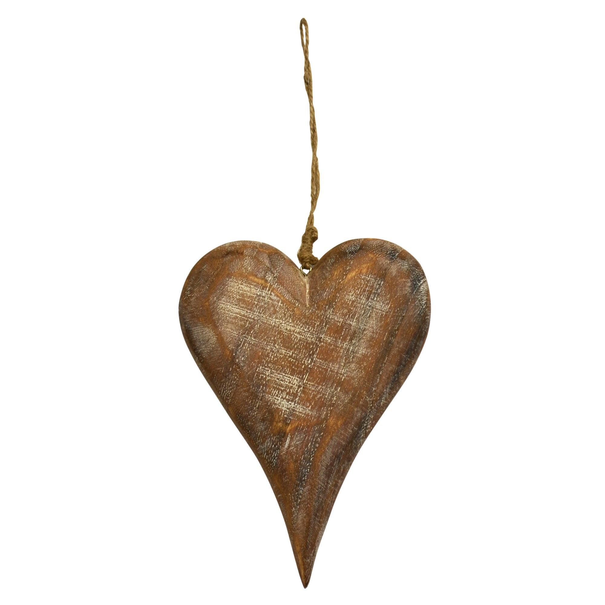 Burnt Sienna Collection Wooden Hanging Heart